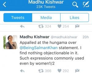 Madhu Kishwar on Salman Khan