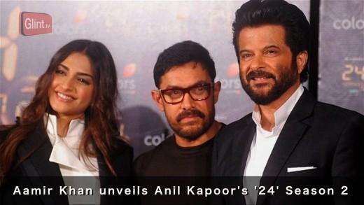Aamir Khan, Sonam  Kapoor at Anil Kapoor's '24' launch
