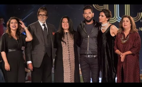 Rohit, Gayle, Bravo, Sehwag walk the ramp for Yuvraj   Amitabh, Deepika on front row