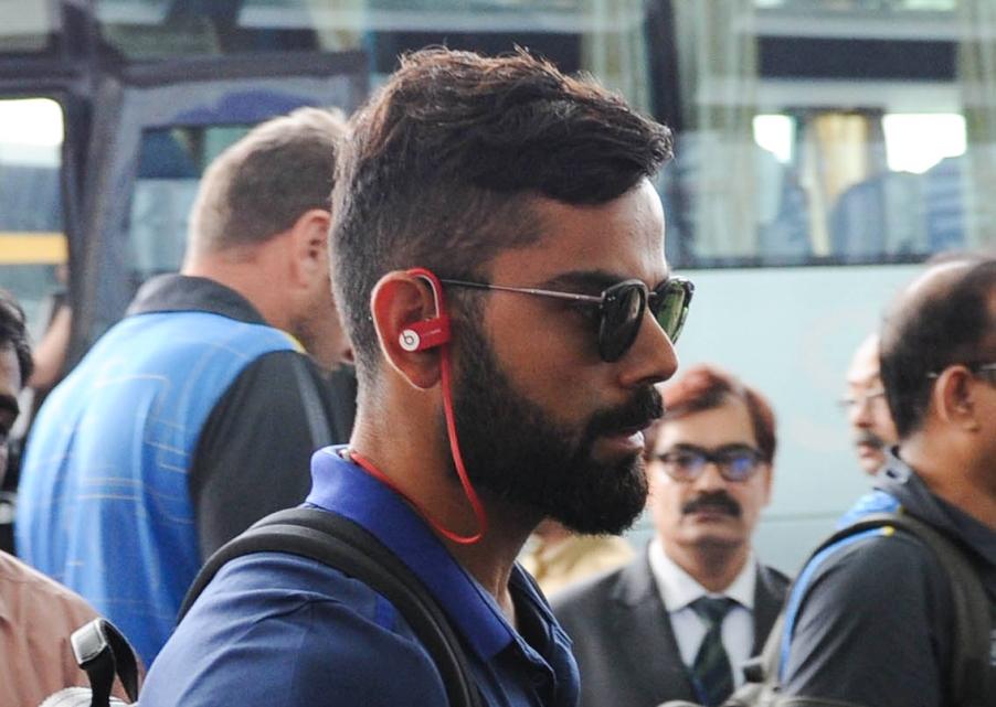 Test captain Virat Kohli departs from Kolkata Airport