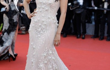 Mallika Sherawat looked gorgeous in Georges Hobeika gown at Cannes