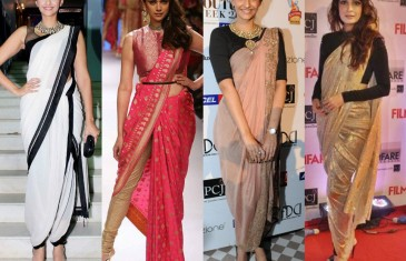Sari styling tips for a different you