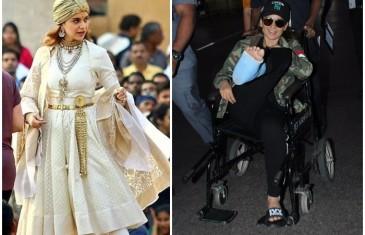 Pics: Kangana suffers leg injury while shooting for 'Manikarnika'
